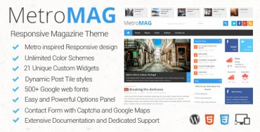 Metro Magazine v2.7 – Responsive WordPress Theme