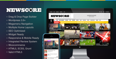 NewsCore v1.5.1 – A Blog, Magazine and News Theme for WP