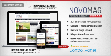Novomag – Themeforest Clean & Flat Magazine