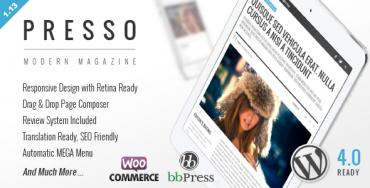 PRESSO v1.13.1 – Clean & Modern Magazine Theme