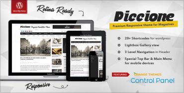 Piccione v1.1.8 – Responsive News/Magazine Theme