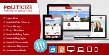 Download Politicize – Political Responsive WordPress Theme