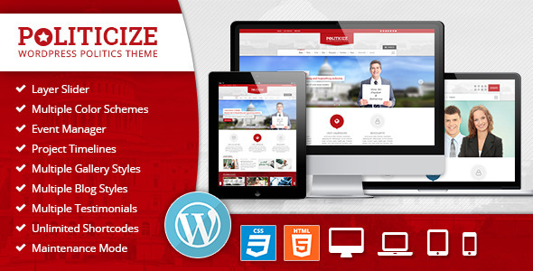 Download Politicize – Political Responsive WordPress Theme