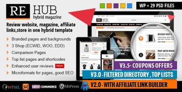REHub v3.8 – Directory, Shop, Coupon, Affiliate Theme