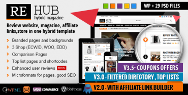 REHub v3.9.1 – Directory, Shop, Coupon, Affiliate Theme