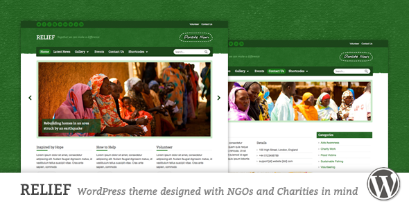 Download Relief v1.7.2 – Themeforest Charity Responsive WordPress Theme