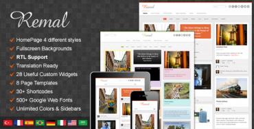 Remal v2.4.1 – Responsive WordPress Blog Theme