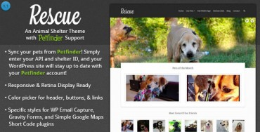 Download Rescue v1.1.2 – Animal Shelter Theme + Petfinder Support