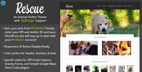 Rescue v2.0.4 – Animal Shelter Theme + Petfinder Support