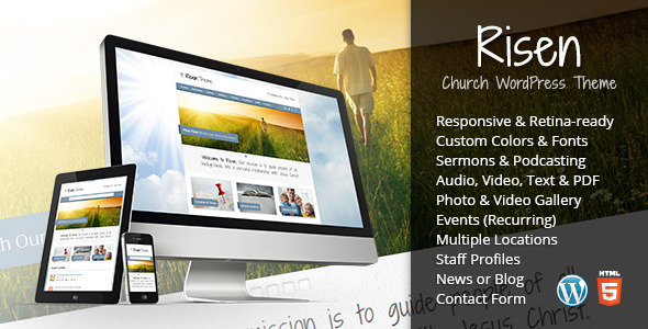 Download Risen v2.0.2 – Themeforest Church WordPress Theme (Responsive) (Latest Version)