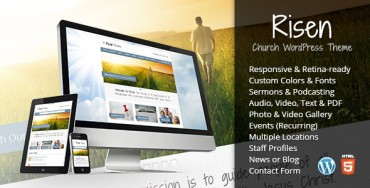 Risen v2.1 – Church WordPress Theme (Responsive)