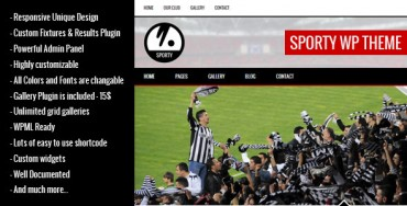 SPORTY v1.8.1 – Responsive WordPress Theme for Sport Clubs