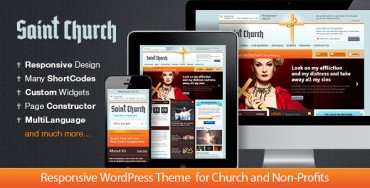 SaintChurch – Themeforest Responsive Church Theme