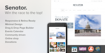 Download Senator v1.0.1 – Themeforest Political WordPress Theme