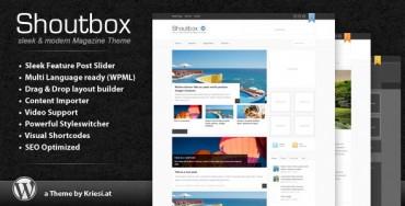 Shoutbox Magazine v1.5 – Themeforest Premium Theme