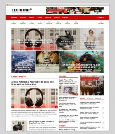 Techfind – Technology magazine WordPress theme