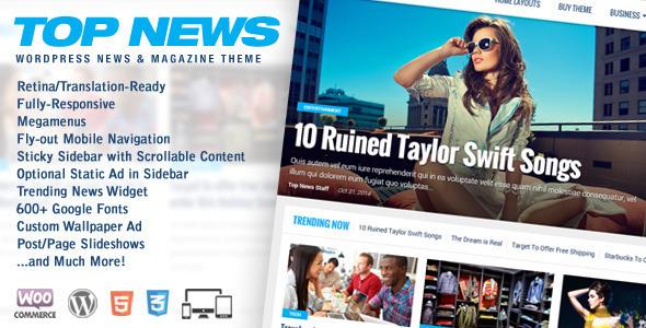 Top News v1.03 – WordPress News & Magazine Theme