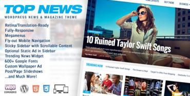 Top News v1.05 – WordPress News & Magazine Theme