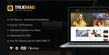 True Mag v3.1 – WordPress Theme for Video and Magazine