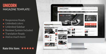 Unicorn v2.0 – Clean and Responsive Magazine Theme