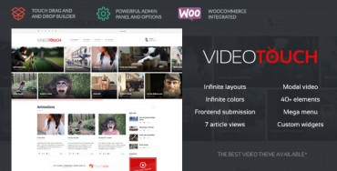 VideoTouch – Themeforest Video WordPress Theme