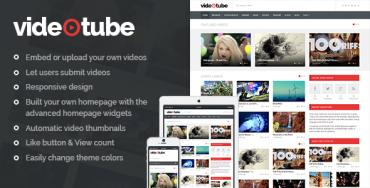 VideoTube v1.3.3 – A Responsive Video WordPress Theme