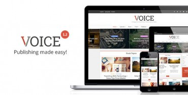 Voice v1.2 – Clean News/Magazine WordPress Theme