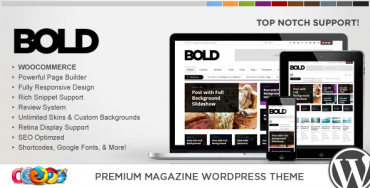 WP Bold – WordPress Magazine & Review Theme