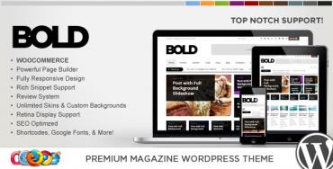 WP Bold – WordPress Magazine & Review Theme