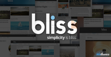 Bliss v3.1.0 – Personal Minimalist WordPress Blog Theme
