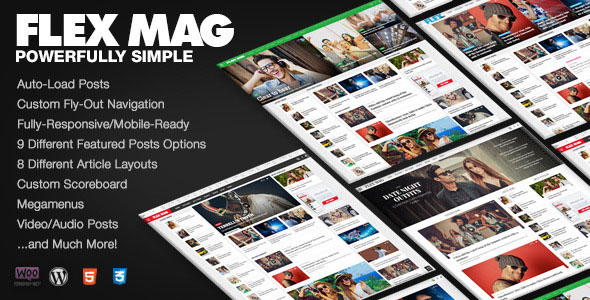 Flex Mag v1.04 – Responsive WordPress News Theme