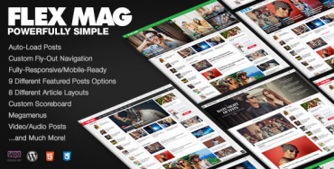 Flex Mag v1.03 – Responsive WordPress News Theme