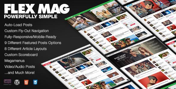 Flex Mag v1.03 – Responsive WordPress News Theme