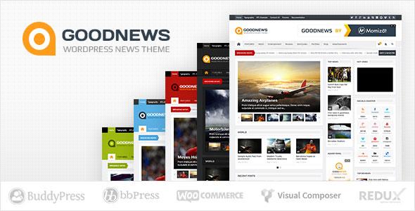 Goodnews v5.8.0.1 – Responsive WordPress News/Magazine