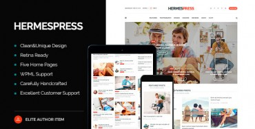 HermesPress v1.3.1 – Magazine / Newspaper WordPress Theme