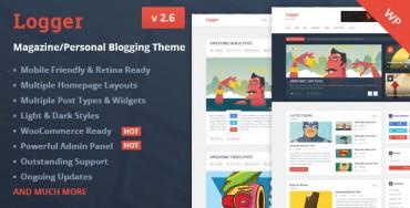 Logger v2.6 – Magazine/Personal Blogging Theme