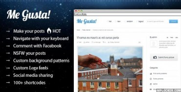 Me Gusta! v3.2 – User-driven Content Sharing Theme