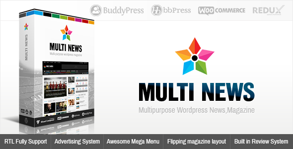 Multinews v2.3.6 – Multi-purpose WordPress News, Magazine