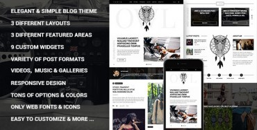 Owl – Personal Responsive WordPress Blog Theme