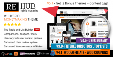 REHub v5.1 – Directory, Shop, Coupon, Affiliate Theme