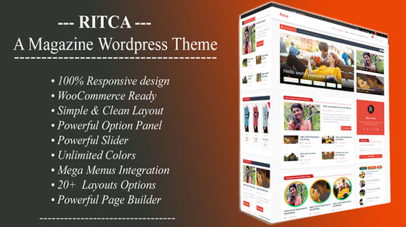 Ritca – Blog Magazine WordPress Theme