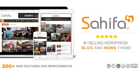 Sahifa v5.4.0 – Responsive WordPress News, Magazine, Blog Theme
