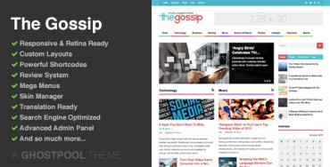 The Gossip v2.8 – Multi-Purpose Magazine Theme