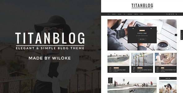 Titan – An Elegant WordPress Blog Theme