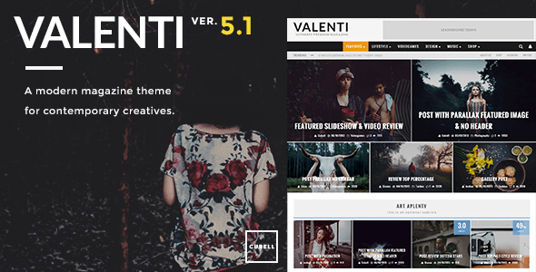 Valenti v5.1.3 – WordPress HD Review Magazine News Theme