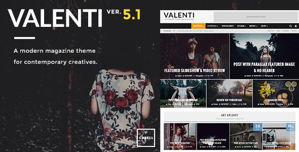 Valenti v5.1.3 – WordPress HD Review Magazine News Theme