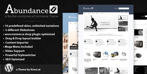 Abundance v2.9 eCommerce Business Theme