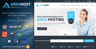 Arka Host v5.0.7 – WHMCS Hosting, Shop & Corporate Theme