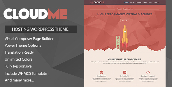 Cloudme Host v1.0.2 – WordPress Hosting Theme + WHMCS