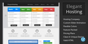 Elegant Hosting – Themeforest WordPress Theme